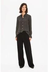 Zenggi Japanese Cupro Dot Shirt Black