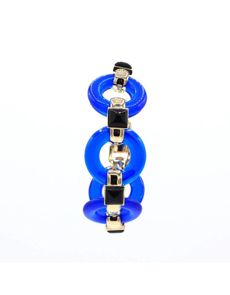 Bracelet with round blue links