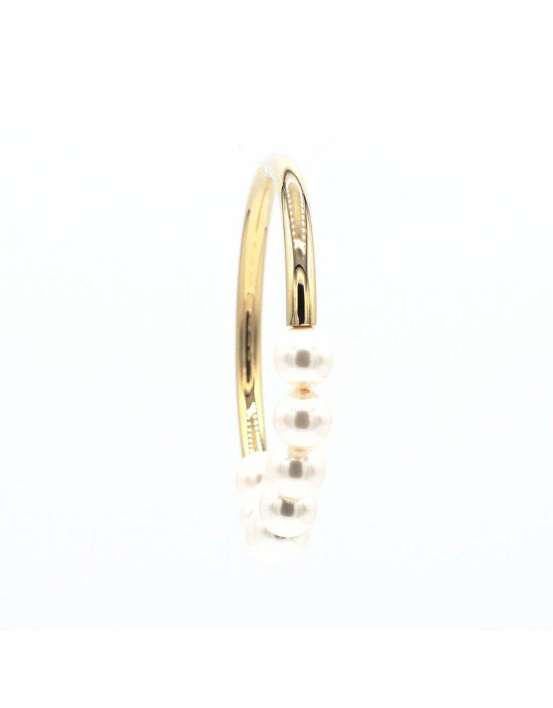 Zilver vergulde armband zilver verguld met parels