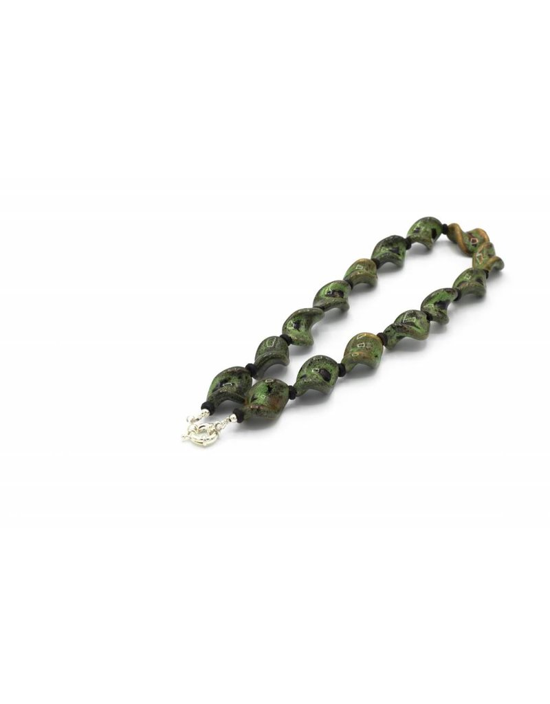 Green ceramic necklace