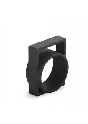 Ola Ring with large square black