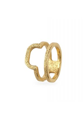 Ola Ring double rounded gold