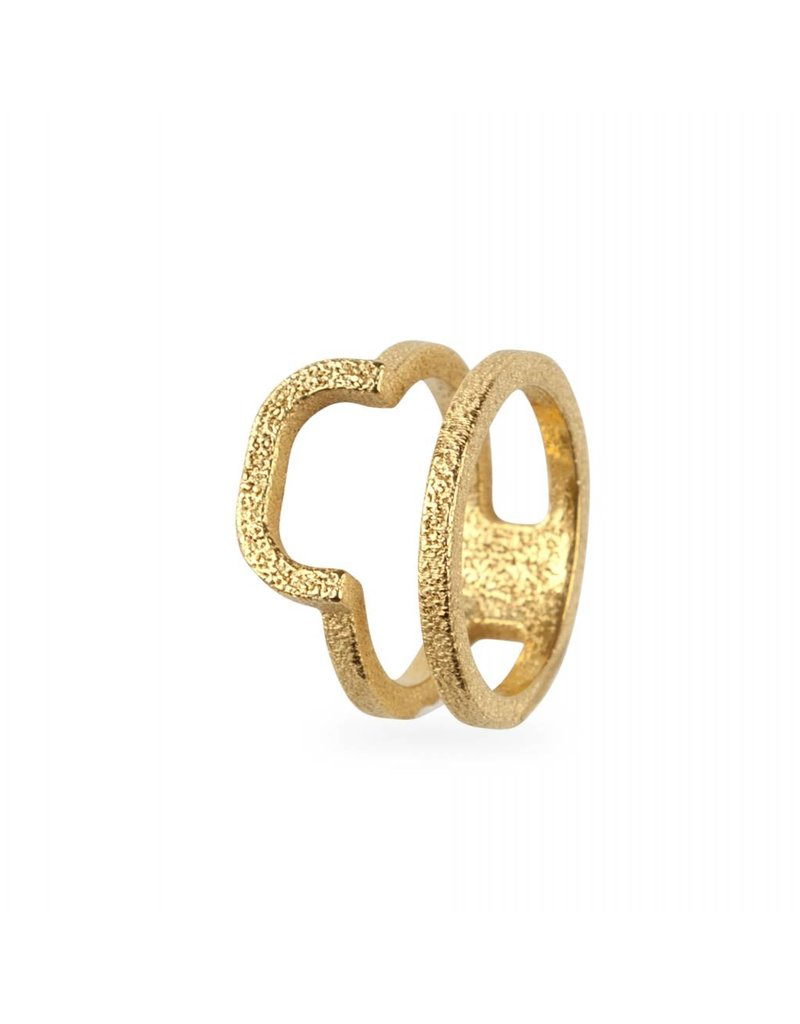 Ola Gold plated double rounded ring
