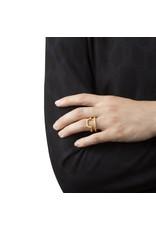 Ola Vergulde dubbel afgeronde ring