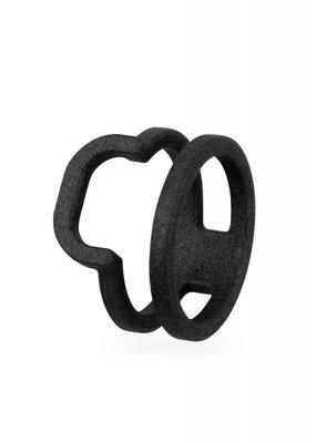 Ola Ring dubbel afgerond zwart
