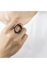 Ola Ring large oval black