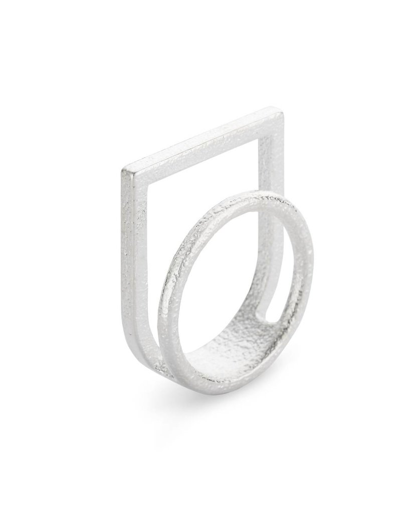 Ola Ring double with silver frame