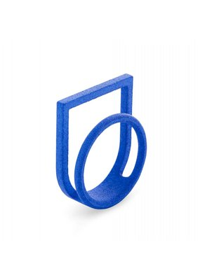 Ola Ring double with blue frame