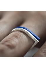 Ola Ring drop blue