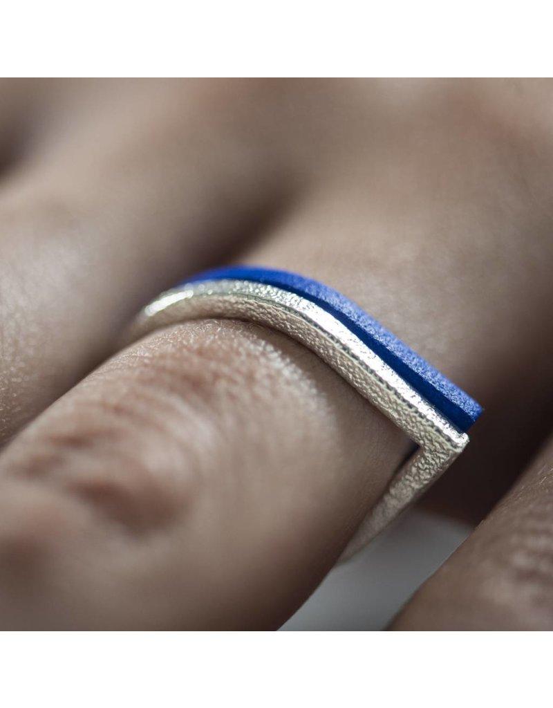 Ola Ring druppel blauw