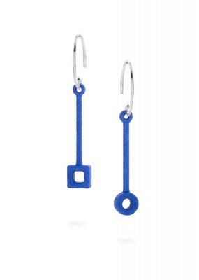 Ola Oorbellen stick blauw