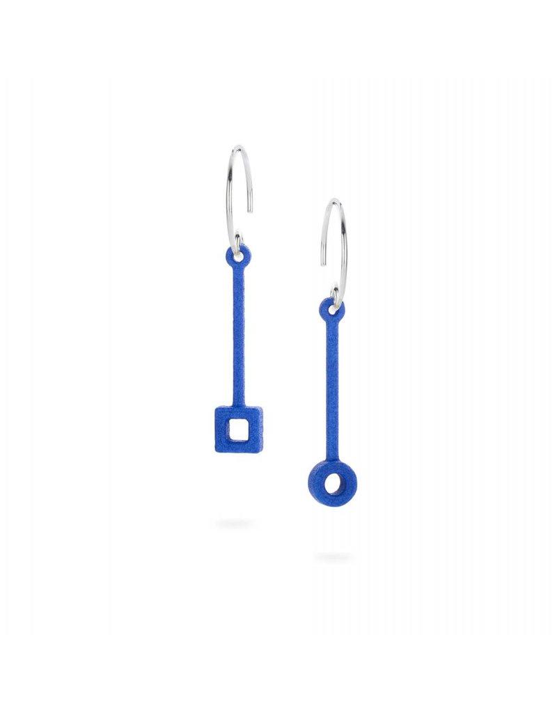 Ola Earrings stick blue
