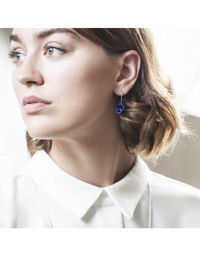 Ola Earrings dangle blue