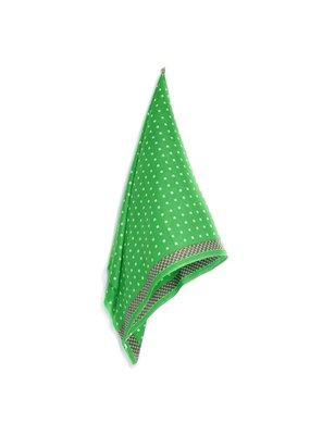 Hellen Van Berkel Scarf Bright Green with Beige Squares