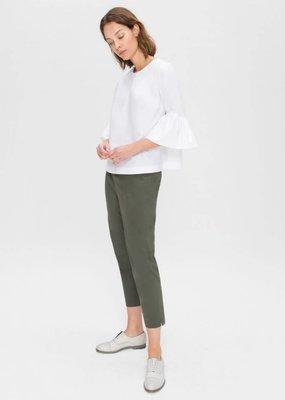 Zenggi Cotton Cropped Top White