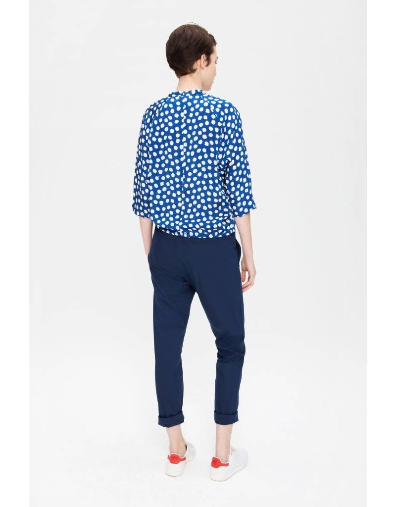 Zenggi Relaxed Pants in Cotton Mix Royal Blue