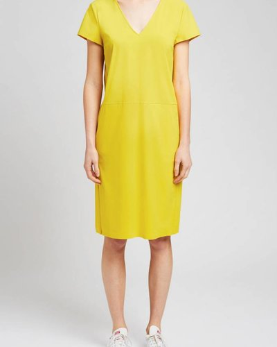 Zenggi Short Sleeve Pocket Dress Yellow