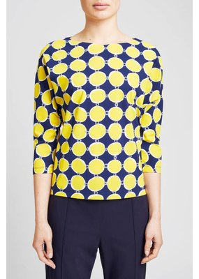 Zenggi Loose Top Portofino Print Yellow