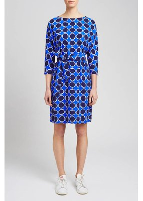 Zenggi Loose Dress Portofino Print Indian Blue