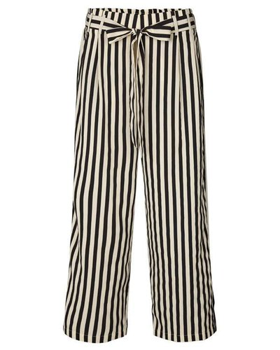 Lollys Laundry Stripes Pants Black