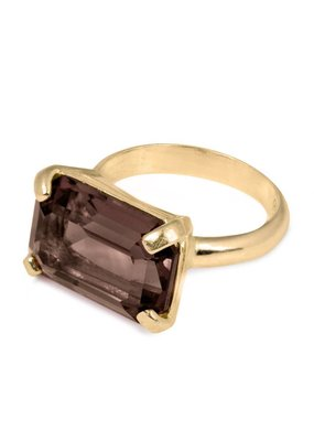 Wouters & Hendrix ELEGANT RING WITH SMOKY QUARTZ