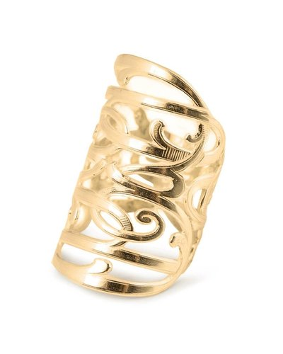 Wouters & Hendrix STATEMENT RING WITH CURVED DETAILS GOLD