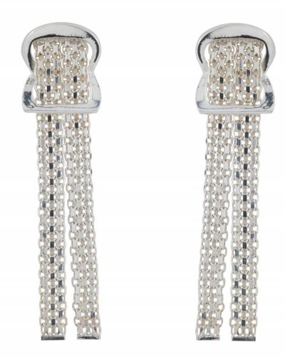 Wouters & Hendrix STATEMENT STUD EARRINGS WITH CHAIN AND SCARF KNOT