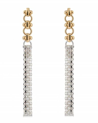 Wouters & Hendrix ELEGANT LONG STUD EARRINGS WITH CHAINS
