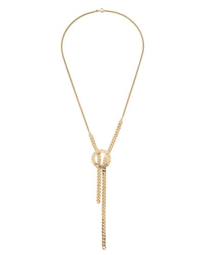 Wouters & Hendrix ELEGANT LONG NECKLACE WITH CIRCLE AND CHAINS