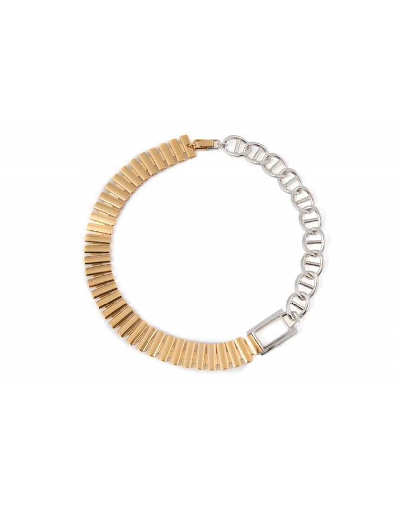 Wouters & Hendrix STATEMENT NECKLACE WITH WATCH FRAME AND CHAINS