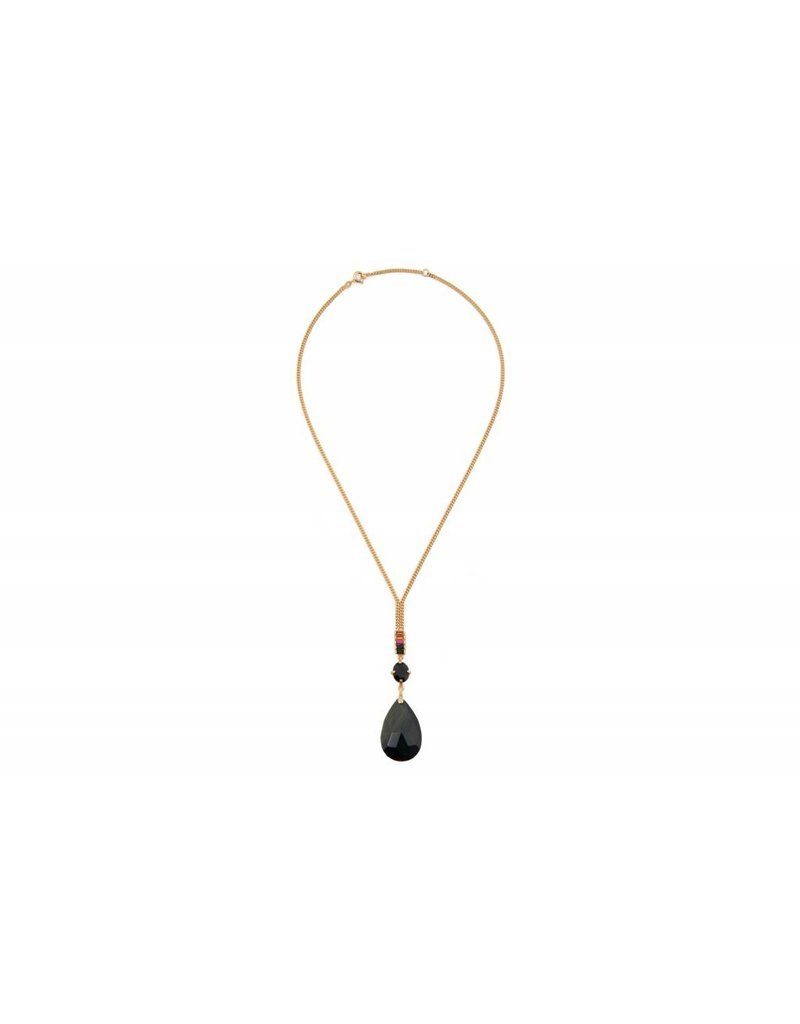 Wouters & Hendrix STATEMENT NECKLACE WITH BLUE TIGER EYE PENDANT