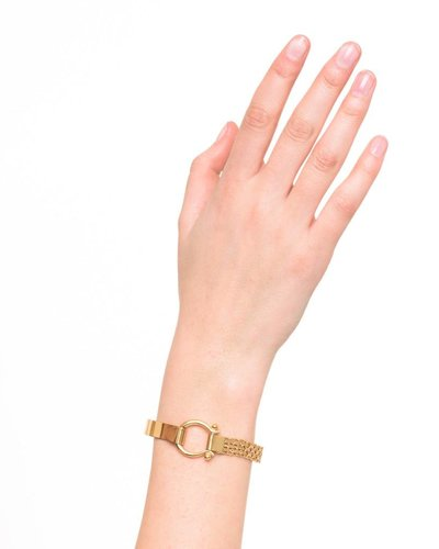 Wouters & Hendrix STATEMENT BRACELET WITH CLASP AND WATCH STRAP GOLD