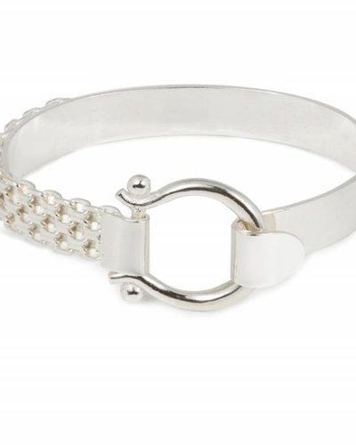 Wouters & Hendrix STATEMENT BRACELET WITH CLASP AND WATCH STRAP SILVER