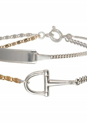 Wouters & Hendrix DELICATE BRACELET WITH BUCKLE DETAIL AND PLATE
