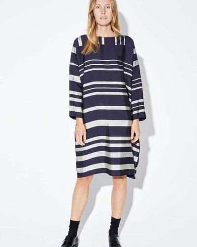 Zenggi SILK VISCOSE STRAIGHT DRESS MIDNIGHT BLUE