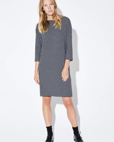 Zenggi EASY FIT SOFT STRIPED DRESS CHARCOAL