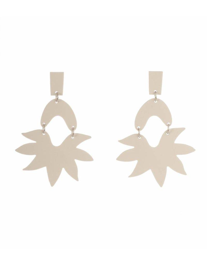 Mme Butterfly Large earrings pendants white