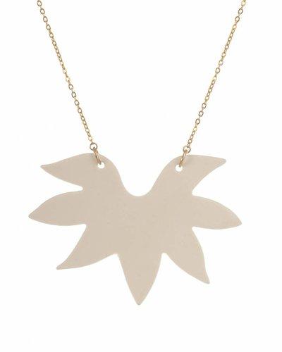 Mme Butterfly Halsketting met hanger stekels wit