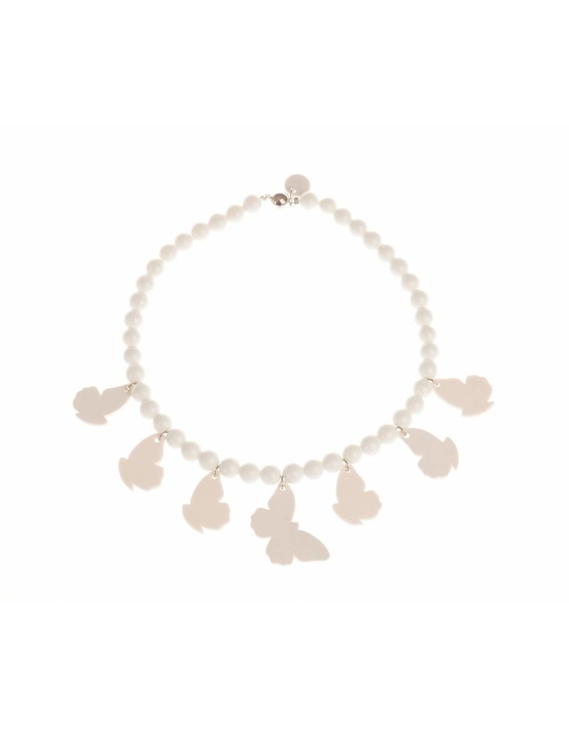 Mme Butterfly Necklaces leaves and butterflies