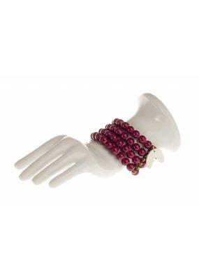 Mme Butterfly Armbanden keramiek parels bordeaux