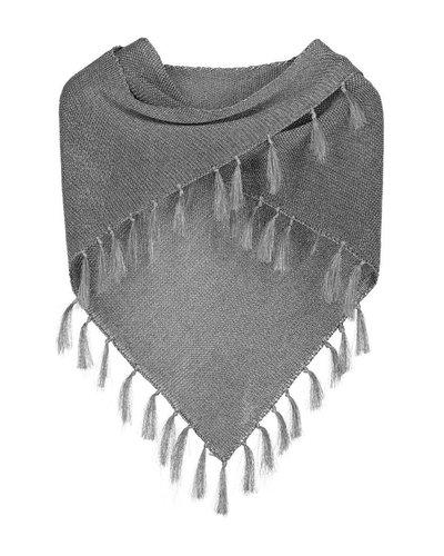 Sjaal Triangle zilver blinkend