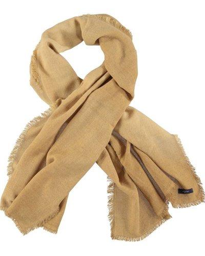 Sjaal zandkleurig wol alpaca