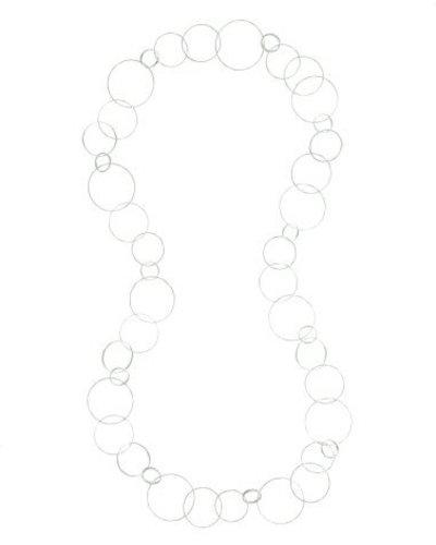 Halsketting lang grote onregelmatige ronde schakels zilver