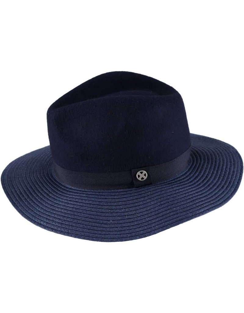 Geblokte hoed Blauw