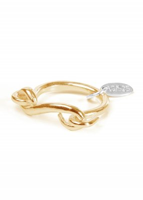Wouters & Hendrix Curved wire ring gold
