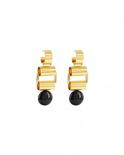 Studio Collect Statement hoop earrings with onyx