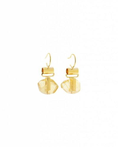 Studio Collect Hook earrings with citrine