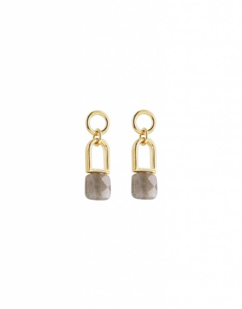 Studio Collect Flexible post earrings with labradorite