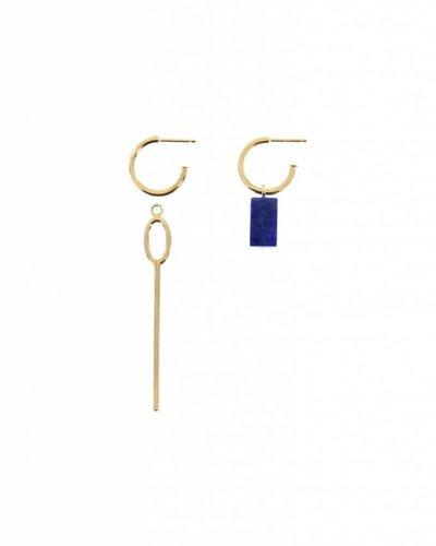 Studio Collect Asymmetric hoop earrings