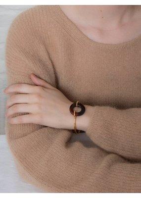 Studio Collect Semi-flexible bracelet with carnelian agate
